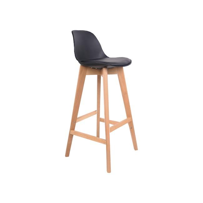 Linnett Bar Chair - Black - 2