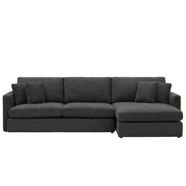 Ashley L-Shaped Lounge Sofa - Granite - 0