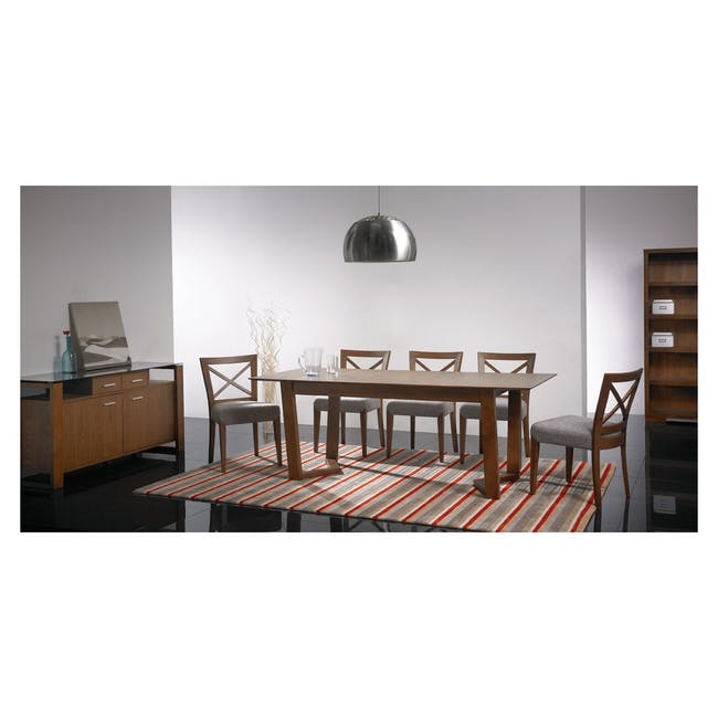 Meera Extendable Dining Table 1.6m - Cocoa - 4