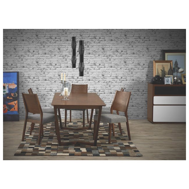 Meera Extendable Dining Table 1.6m - Cocoa - 3