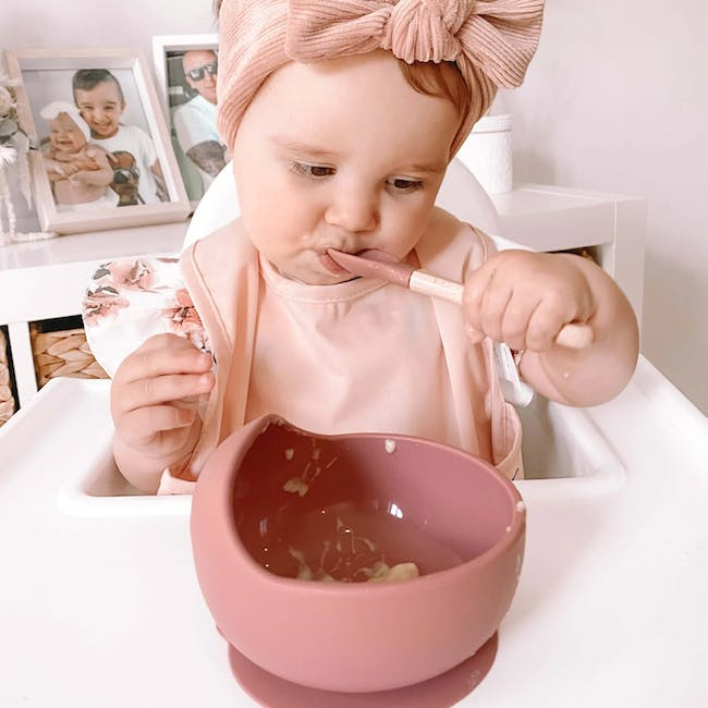 Little Fawns Silicone Suction Bowl - Pink Blush - 1
