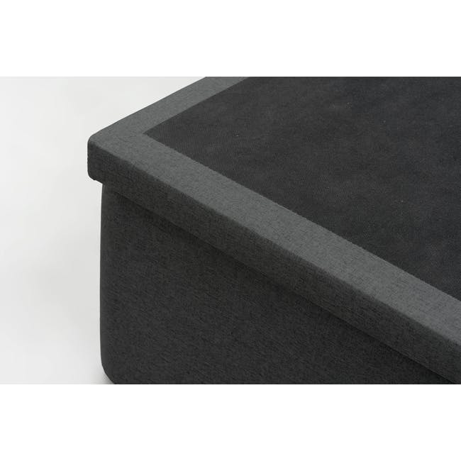 ESSENTIALS Super Single Storage Bed - Smoke (Fabric) - 6
