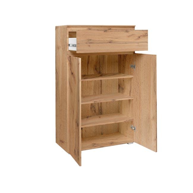 Erika Drawer Shoe Cabinet - Golden Oak - 1