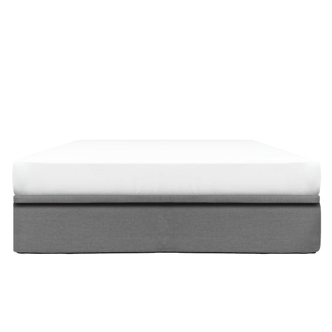 ESSENTIALS Queen Storage Bed - Grey (Fabric) - 0