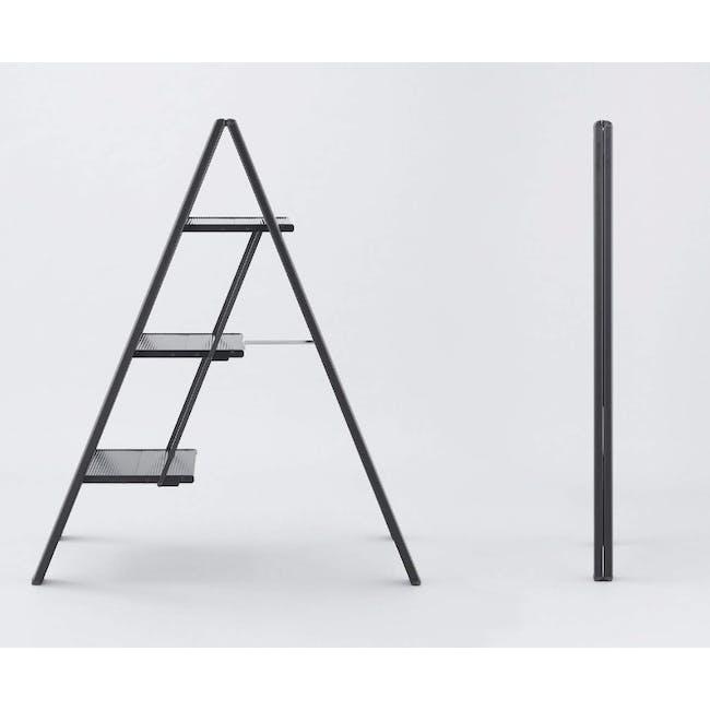 Hasegawa Lucano Slim Aluminium 3 Step Stool - Silver - 2