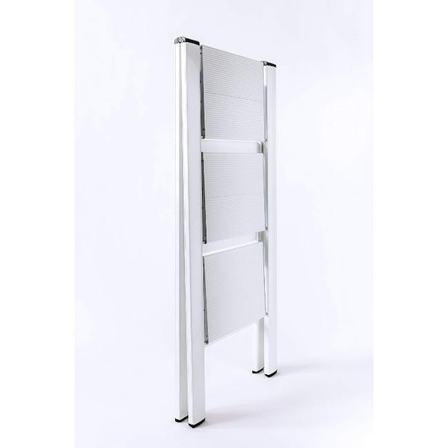 Hasegawa Lucano Slim Aluminium 3 Step Stool - Silver - 4