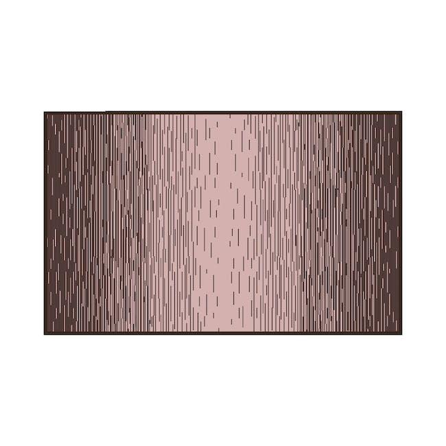 Dawn Medium Reversible Mat 2.4m x 1.5m - Brown & Pink - 0