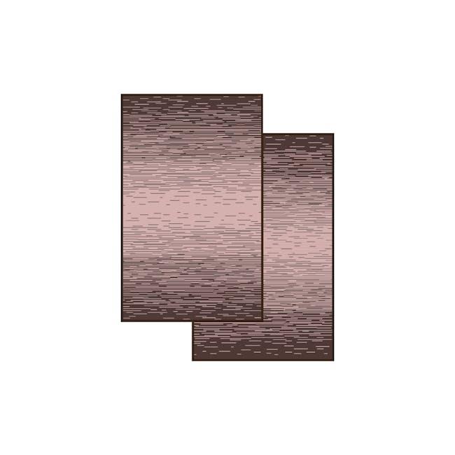 Dawn Medium Reversible Mat 2.4m x 1.5m - Brown & Pink - 4