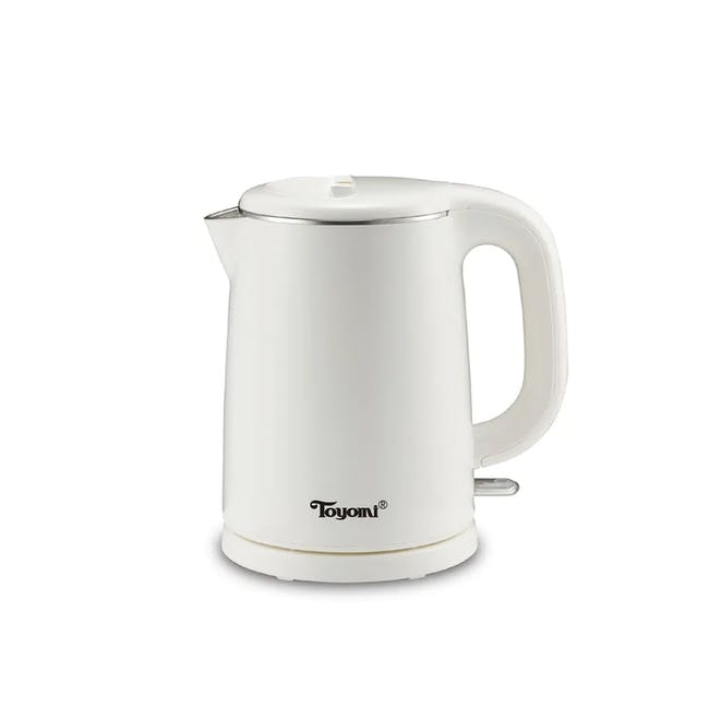 TOYOMI 1L Stainless Steel Electric Cordless Kettle WK 1029 - White - 0