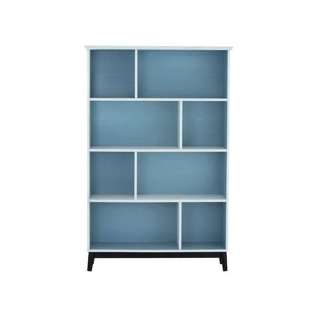 (As-is) Howard Bookshelf - Light Blue, White - 1 - 0