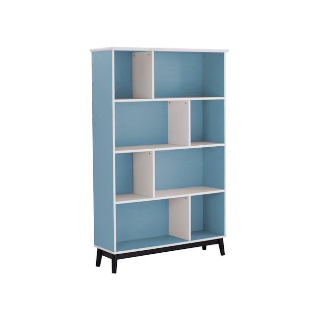 (As-is) Howard Bookshelf - Light Blue, White - 1 - 7