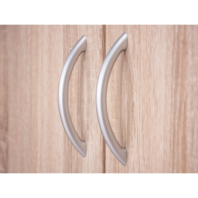 Levi 2-Door Shoe Cabinet - Oak - 1