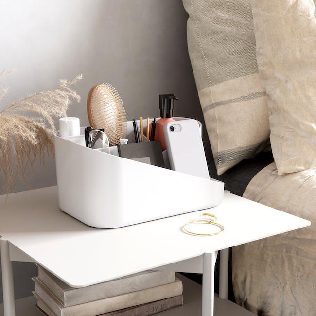 Glam Cosmetic Organiser - White, Grey - 1