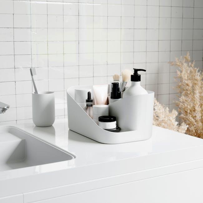 Glam Cosmetic Organiser - White, Grey - 7