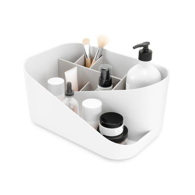 Glam Cosmetic Organiser - White, Grey - 0
