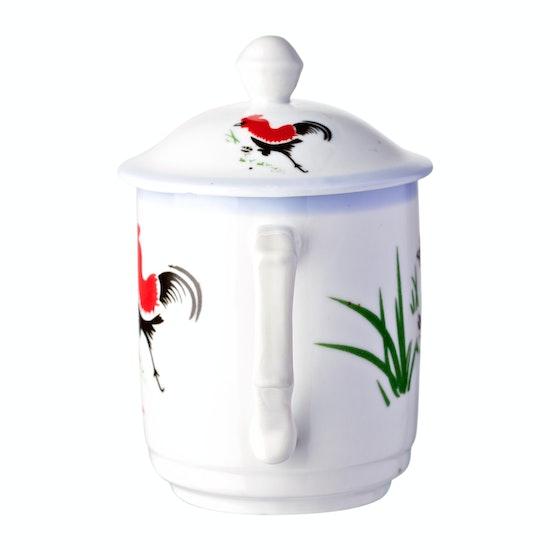 Ciya - Rooster 10 oz. Mug With Cover