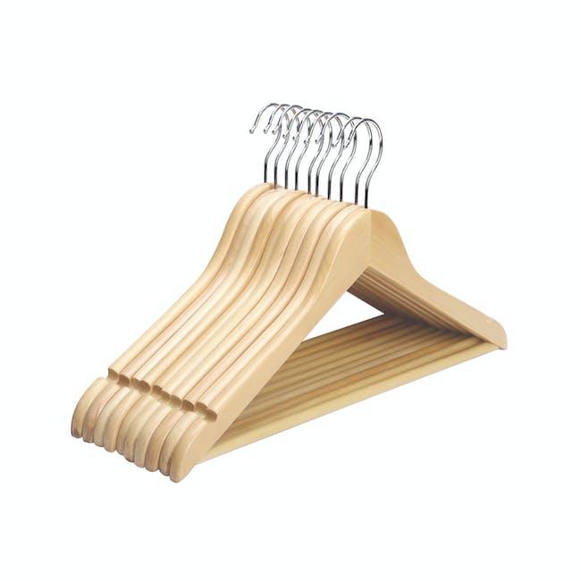 Wooden Hangers (Set of 10) - Natural - 0