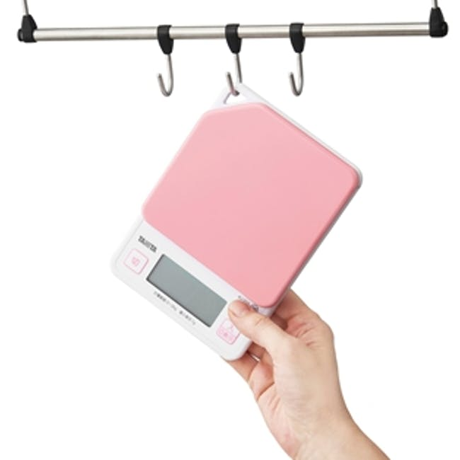 Tanita Digital Kitchen Scale with Hanging Hook - Pink - 2