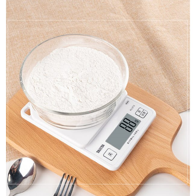 Tanita Digital Kitchen Scale with Hanging Hook - Pink - 4