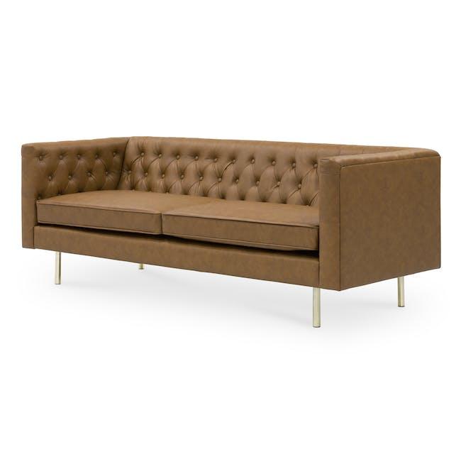 Cadencia 3 Seater Sofa - Tan (Faux Leather) - 3