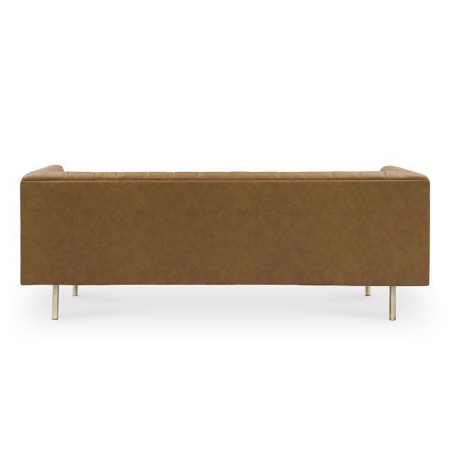Cadencia 3 Seater Sofa - Tan (Faux Leather) - 5