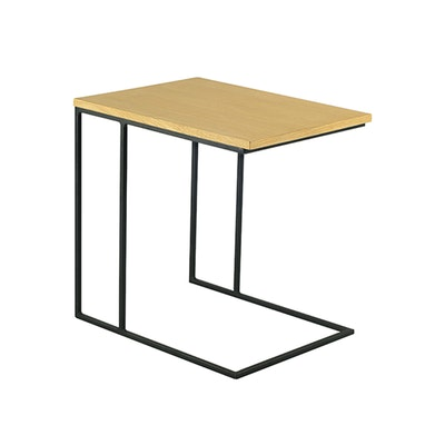 Myron Side Table - Oak, Matt Black