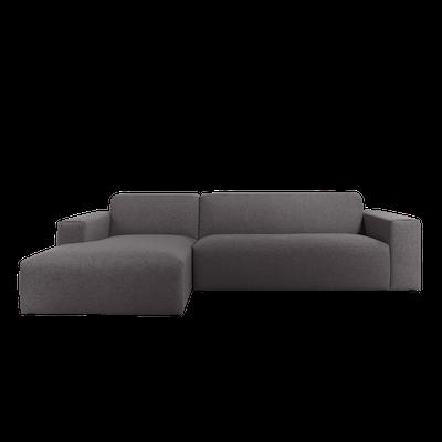 Adam L Shape Sofa - Granite - Image 1