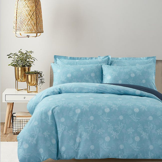 Marie Claire Lumine Cotton Printed Bed Set - Rosaria (2 Sizes) - 0