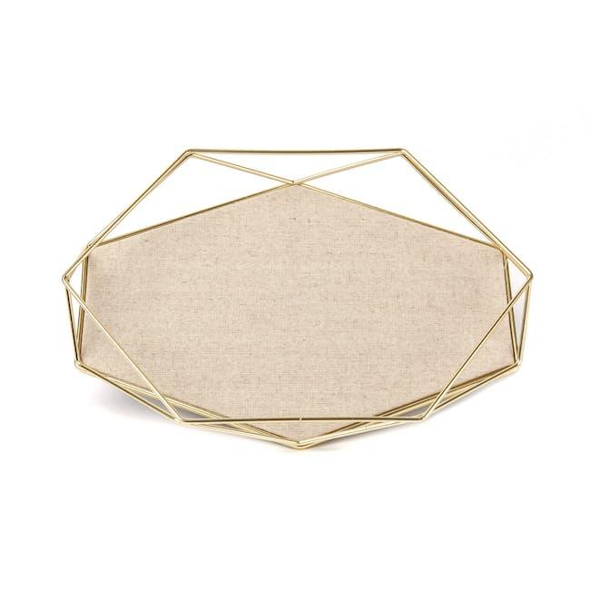 Prisma Jewelry Stand with Prisma Jewelry Tray - Brass - 11