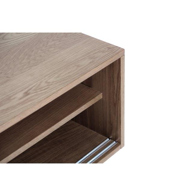 Keita TV Console 1.8m in Walnut with Carsyn Oval Coffee Table in Cocoa - 9