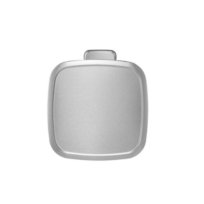 EKO Stella Stainless Steel Rectangle Step Bin With Soft Closing Lid - Brushed (3 Sizes) - 1