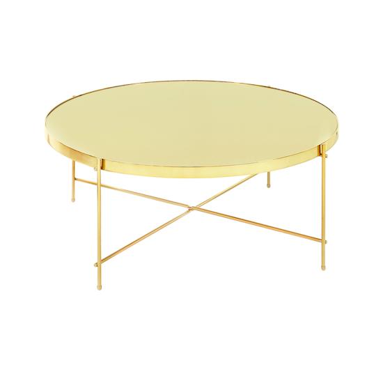 SourceByNet - Chloe Round Coffee Table - Champagne