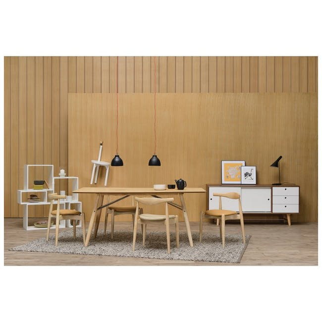 Bouvier Dining Chair - Oak, Carrot - 4