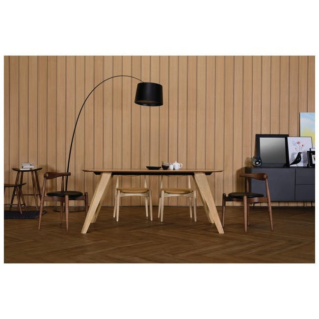 Bouvier Dining Chair - Oak, Carrot - 5