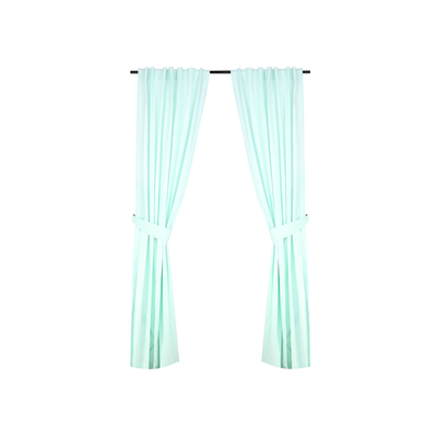 Reysha Cotton Curtain (Set of 2) - Mint