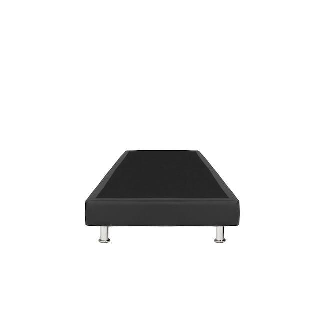 ESSENTIALS Super Single Divan Bed - Black (Faux Leather) - 1
