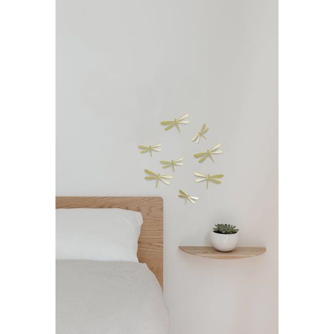 Dragonfly Wall Flutter Wall Decor - Brass (Set of 8) - 4