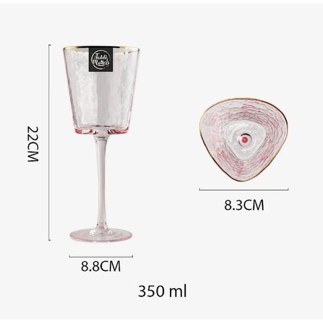 Table Matters Tsuchi Wine Glass 350ml - Pink - 3