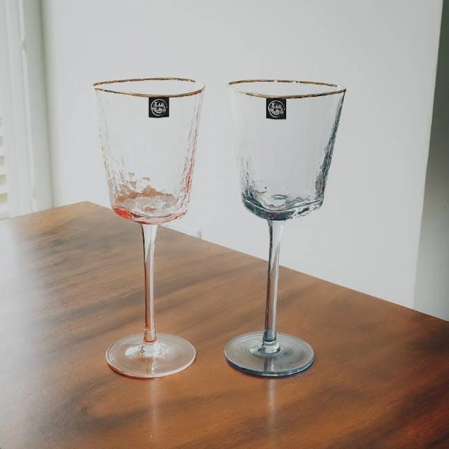 Table Matters Tsuchi Wine Glass 350ml - Pink - 1