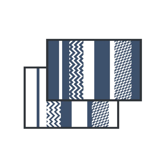 Katve Medium Reversible Mat 2.4m x 1.5m - White/Blue - 6