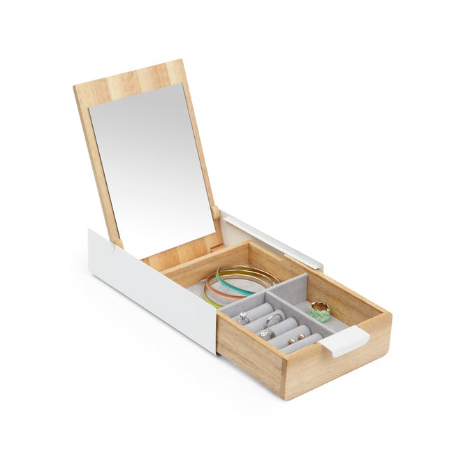 Reflexion Storage Box - White, Natural - 1