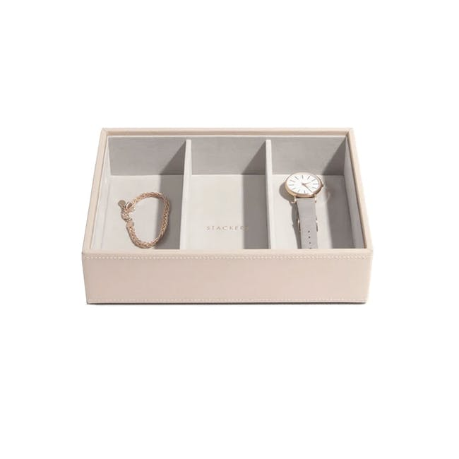 Stackers Classic 3 Deep Compartment Watch/ Accessory Layer - Blush - 0