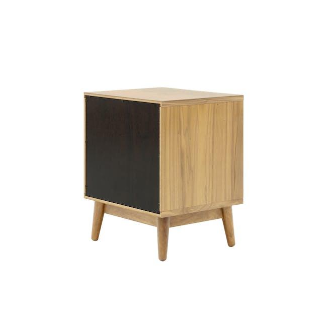 Kyoto Twin Drawer Bedside Table - Oak - 5