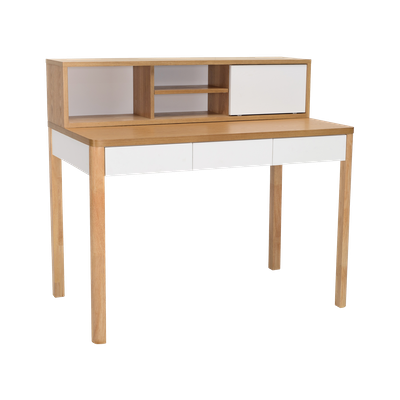 Mabon Working Desk with Storage - Natural - Image 1