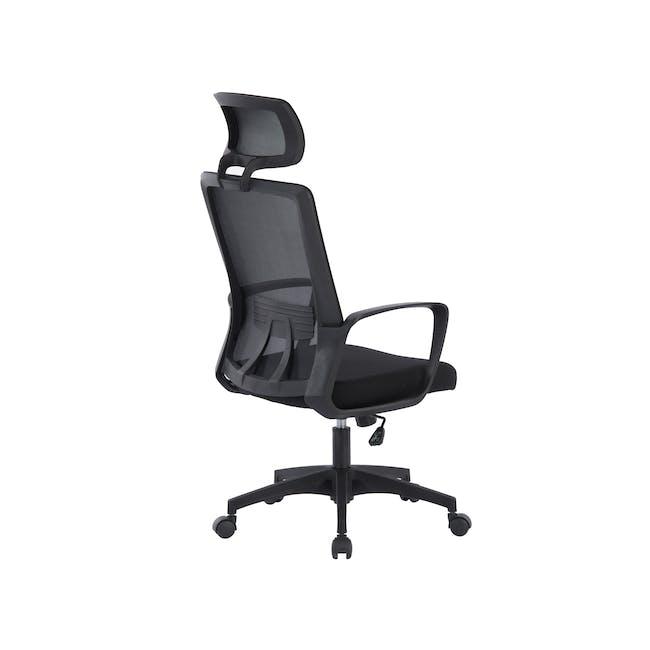 Warren High back Office Chair - Black - 3