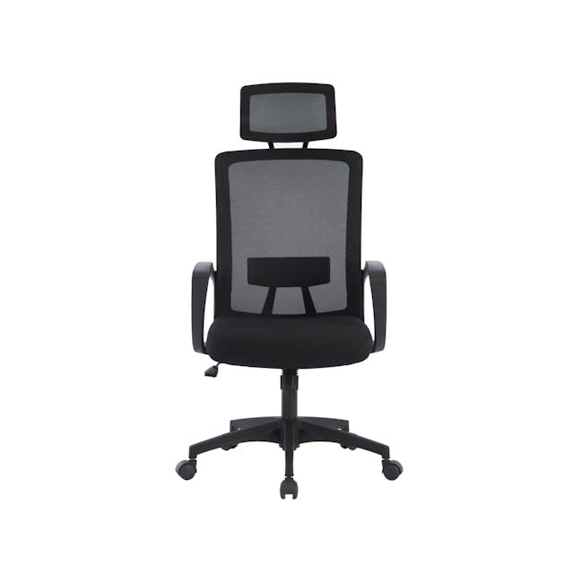 Warren High back Office Chair - Black - 0