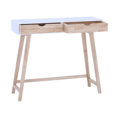 (As-is) Magnus Console Table - White, Natural - 1 - Image 2