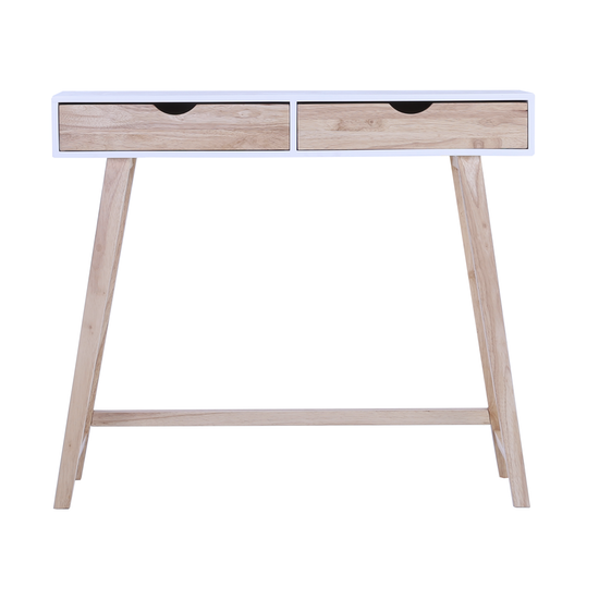 Magnus Console Table White Natural Laholm Hipvan