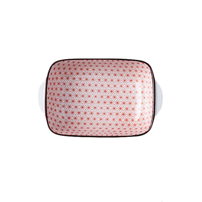 Table Matters Starry Red Baking Dish with Handles - 0