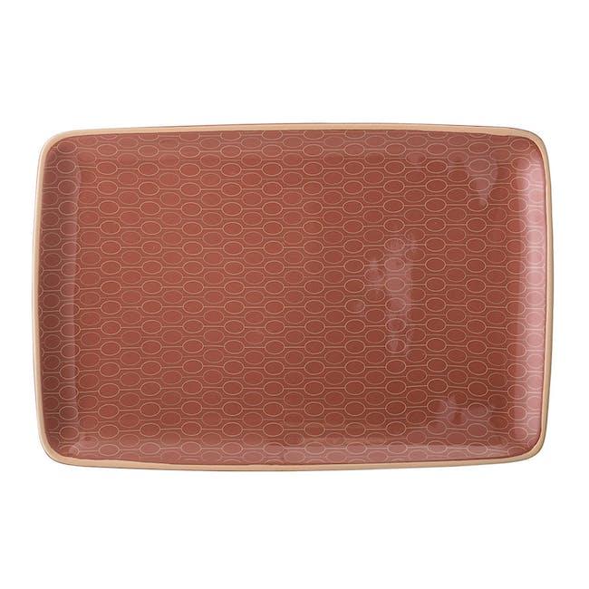 Pallas Serving Plate - Brick Red - 0